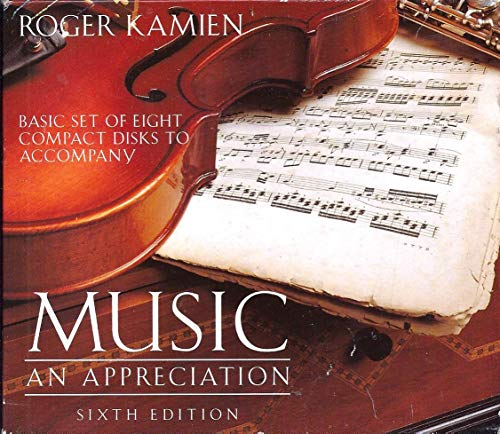 9780079121592: Basic Set of Eight Compact Disks to Accompany Music: An Appreciation