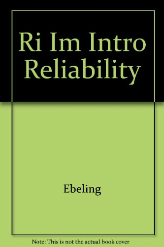 9780079122841: An Introduction to Reliability and Maintainability Engineering (Paperback)