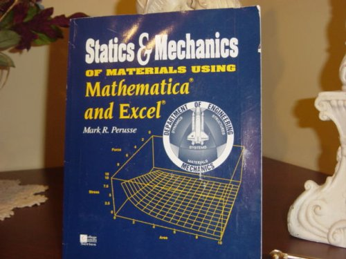 9780079129246: Statics&Mechanics of Materials Using Mathematica and Excel with Disket.l. Paperback.