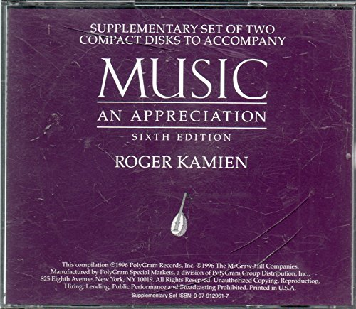 9780079129611: Music: an Appreciation: CD-Rom Supplement Set