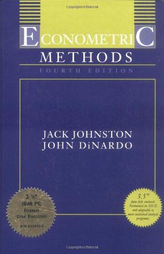 9780079131218: Econometric Methods