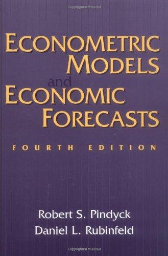 9780079132925: Econometric Models and Economic Forecasts