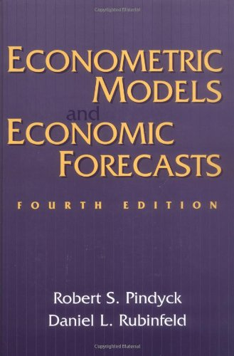 9780079132925: Econometric Models and Economic Forecasts