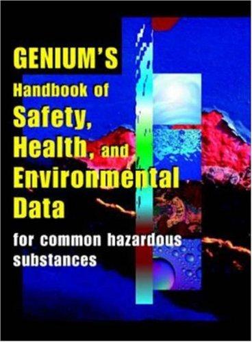 9780079136145: Genium's Handbook of Health, Safety & Environmental Data