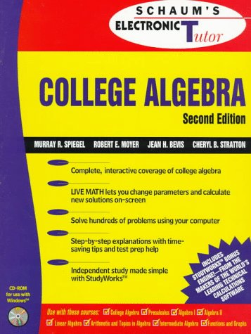 9780079136206: Schaum's Electronic Tutor College Algebra (Schaum's Outline Series)