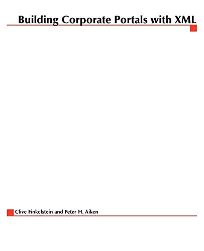 9780079137050: Building Corporate Portals with XML
