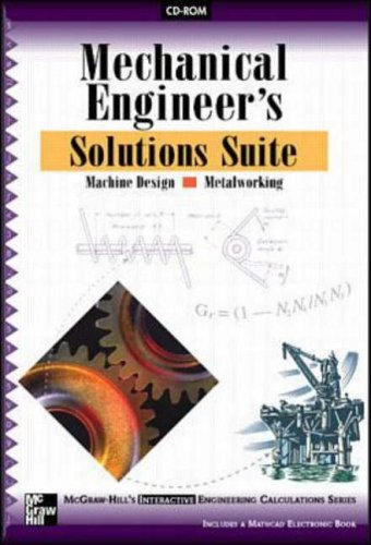 9780079137241: Mechanical Engineer's Solutions Suite for Machine Design and Metalworking