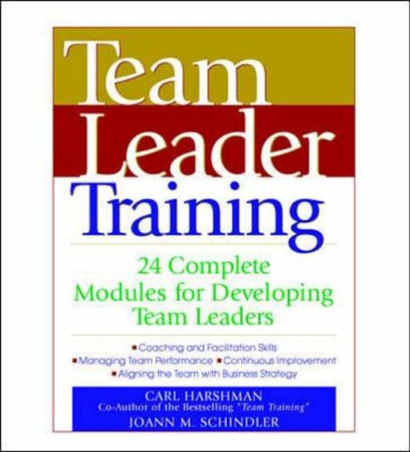 9780079137753: Team Leader Training: 24 Complete Modules for Developing Team Leaders