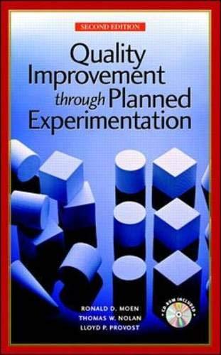 Quality Improvement Through Planned Experimentation: Lloyd P. Provost;