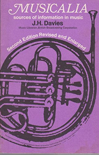 9780080063560: Musicalia: Sources of Information in Music