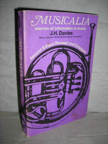 9780080063577: Musicalia: Sources of Information in Music (C.I.L.)