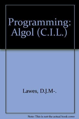 9780080063850: Programming - Algol