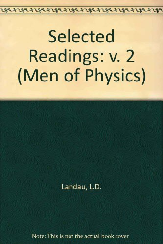 9780080064505: Thermodynamics, Plasma Physics and Quantum MechanicsL: D. Landau. Volume 2 (Men of Physics)