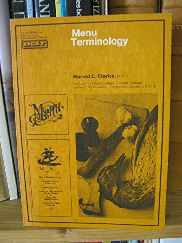 9780080065250: Menu Terminology (Pergamon international library of science, technology, engineering & social studies)