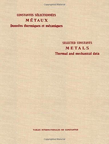 Thermal and Mechanical Data (Tables of Constants): n/a