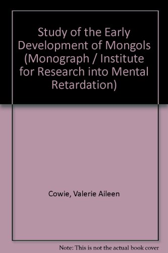 9780080068282: A study of the early development of Mongols,