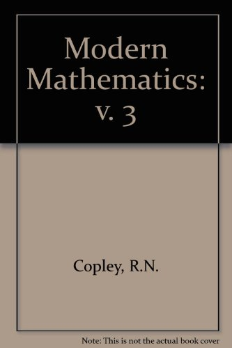 9780080089355: Modern Mathematics: v. 3