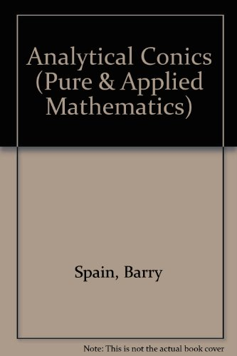 9780080090474: Analytical Conics (Pure & Applied Mathematics)
