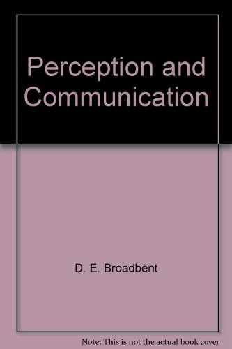 9780080090900: Perception and Communication