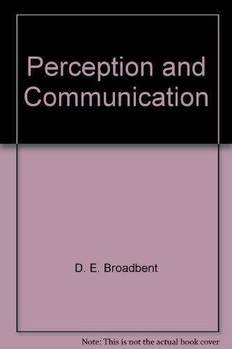 9780080090900: Perception and Communication.