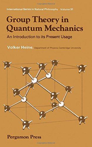 9780080092423: Group Theory in Quantum Mechanics