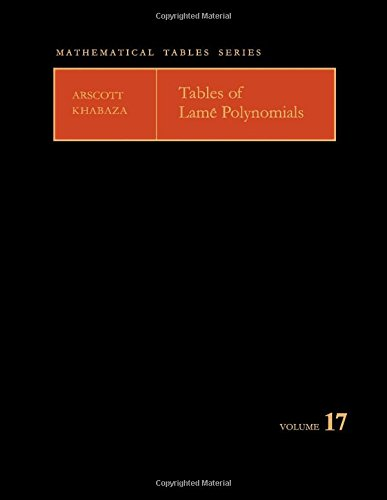 9780080097398: Tables of Lame Polynomials