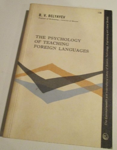 9780080098012: Psychology of Teaching Foreign Languages (Commonwealth Library)