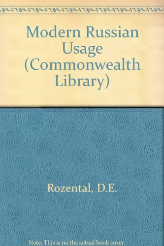 9780080098104: Modern Russian Usage (Commonwealth Library)