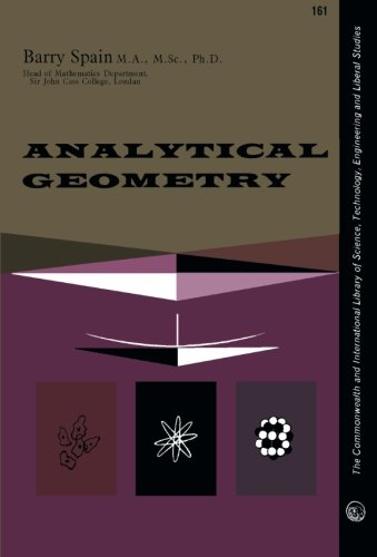 9780080099736: Analytical Geometry: The Commonwealth and International Library of Science, Technology, Engineering and Liberal Studies: Mathematics Division (Commonwealth Library)