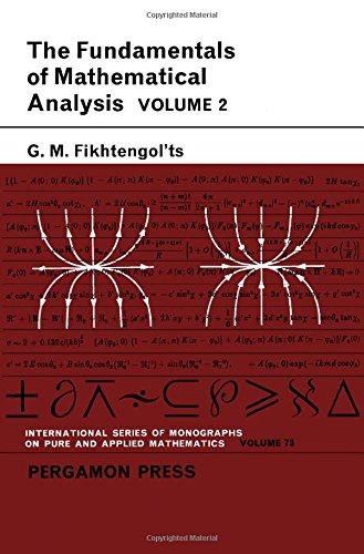 9780080100609: Fundamentals of Mathematical Analysis: v. 2 (Pure & Applied Mathematics Monograph)