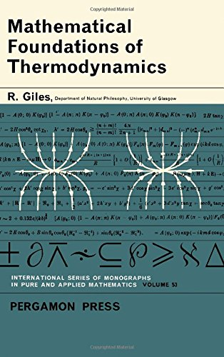 9780080100715: Mathematical Foundations of Thermodynamics