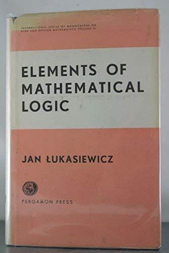 9780080103938: Elements of Mathematical Logic