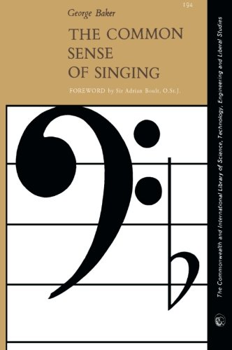 9780080104270: The Common Sense of Singing: The Commonwealth and International Library of Science, Technology, Engineering and Liberal Studies: Music Division (Commonwealth Library)