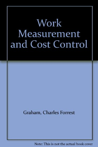 9780080106175: Work Measurement and Cost Control