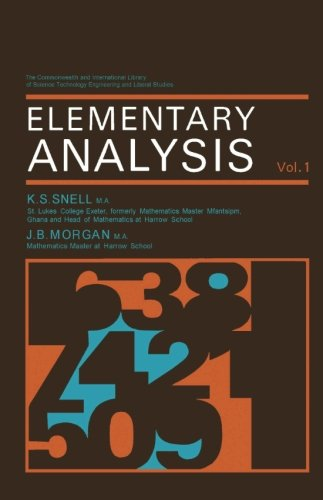 9780080107820: Elementary Analysis: The Commonwealth and International Library: Mathematics Division, Volume 1