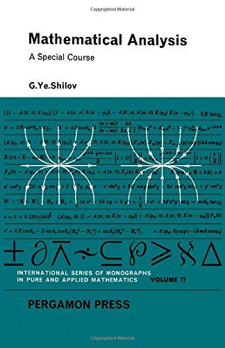 9780080107967: Mathematical Analysis (Pure & Applied Mathematics Monograph)
