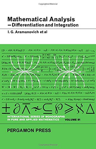 9780080110110: Mathematical Analysis (Pure & Applied Mathematics Monograph)