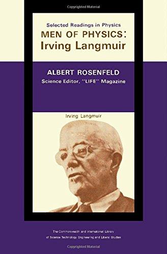 9780080110493: Irving Langmuir