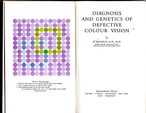 Diagnosis and genetics of defective colour vision: Kalmus, H.