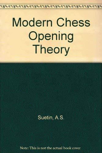 9780080111995: Modern Chess Opening Theory