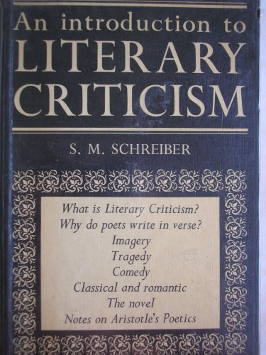 9780080112237: INTRODUCTION TO LITERARY CRITICISM