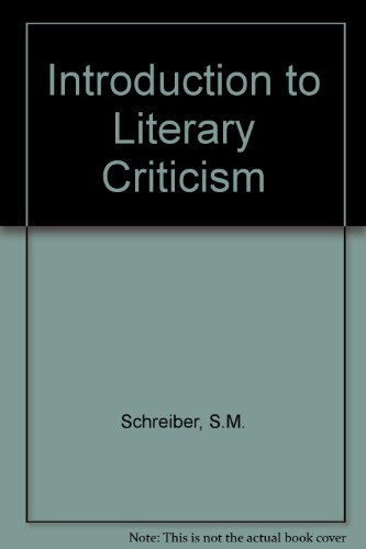 9780080112244: Introduction to Literary Criticism