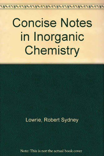 9780080112268: Concise Notes in Inorganic Chemistry