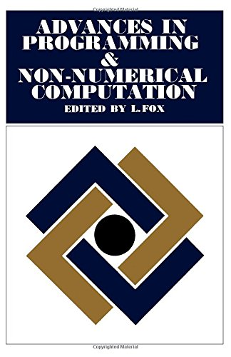 9780080113562: Advances In Programming and Non Numerical Computa