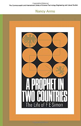 9780080115627: A prophet in two countries : the life of F.E. Simon.