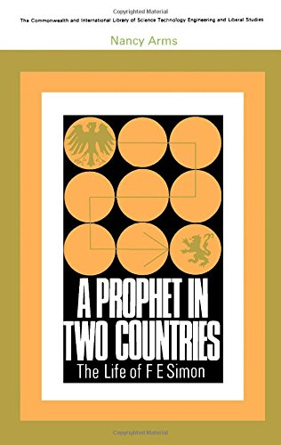 9780080115634: A Prophet in Two Countries the Life of F. E. Simon