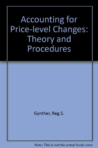 9780080117126: Accounting for Price-level Changes: Theory and Procedures