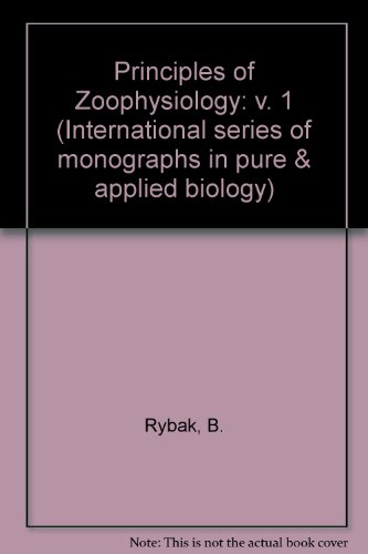 9780080121581: Principles of Zoophysiology