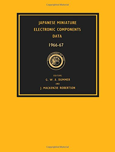 9780080121932: Japanese Miniature Electronics Components Data