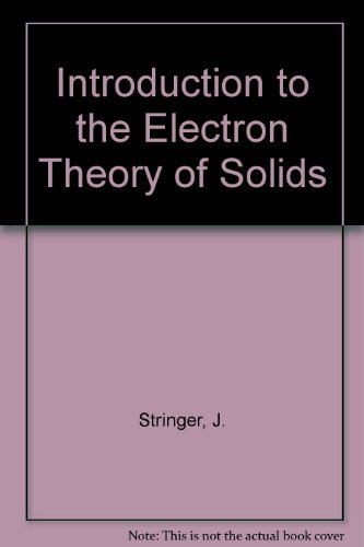 9780080122205: Introduction to the Electron Theory of Solids